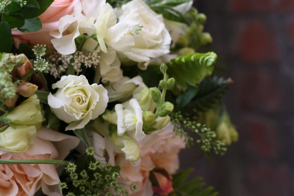 White Rustic Wedding Flowers