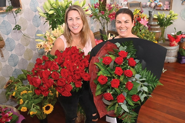 Wildstems Florists Valentines Day - Michelle Elliott, Pam Whitley